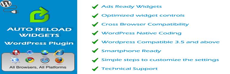 New plugin for Auto reload widgets for WordPress – Axebelk Technologies